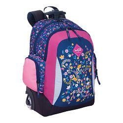Torba školska Bodypack na kotačima Cvijeće MML10701