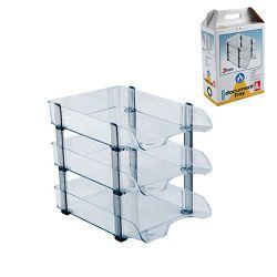 Stalak za spise vodoravni ARK PVC 3 ladice prozirni 2093