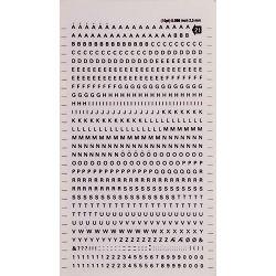 Transferna slova i figure Apli crna 2,5mm DD21f