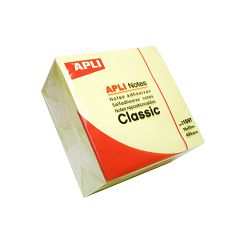 Blok Apli samoljepljivi kocka 75x75mm boja žuta 400L 11597
