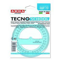 Kutomjer Arda tecnoschool 12cm/360° blister 405SS