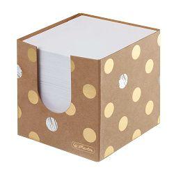 Stolna kocka s papirom 9x9x9 cm, 700 listova, kartonska, Pure Glam, Herlitz