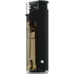 Promo upaljač Atomic svjetleći elektronski crni 3736002
