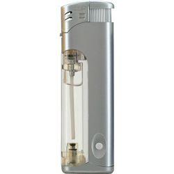 Promo upaljač Atomic svjetleći elektronski srebrni 3736001