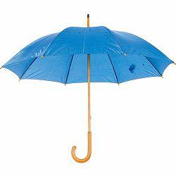 Promo kišobran Santy drveno tijelo i drška plavi m9215228