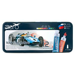 Boja tempera Aero 7,5ml tubice 12 kom u limenoj kutiji, design formula1 9201-2212