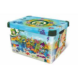 Kutija za pohranu stvari Jolly ukrašena motivom ispod mora 20l 9550-0001