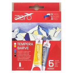 Boja tempera Aero 7,5ml tubice 6 kom u kartonskoj kutiji, 9213-1006