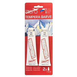 Boja tempera Aero 2 x 42ml tubice bijela boja, 2 kom  blister  9221-2110