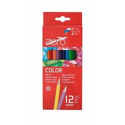 Drvene bojice Aero color, 12 kom u kartonskom pakiranju 3069-0212