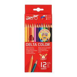 Drvene bojice triangular Aero delta color12 kom u kartonskom pakiranju 3303-0212