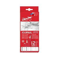 Olovka grafitna Aero journal 12 kom. (8B-6B-4B-3B-2B-b-HB-f-h--2H-4H-5H) 1777-9012