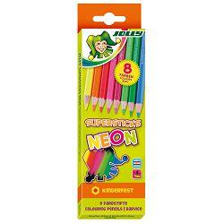 Drvene bojice Jolly kinderfest neon mix 8 kom u kartonskoj kutiji 3000-0448