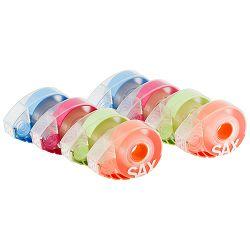 Stalak za selotejp+selotejp Sax design 8/1 (narančasta, zelena, plava, magenta)  0-719-99