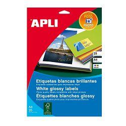 Naljepnica Apli 199,6x289,1mm bijela glossy 10L 2926
