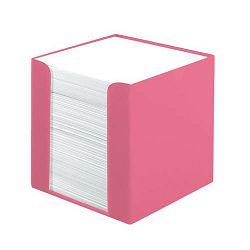 Stolna kocka s papirom 9x9x9 cm, 700 listova, PVC, Color Blocking, Herlitz, roza