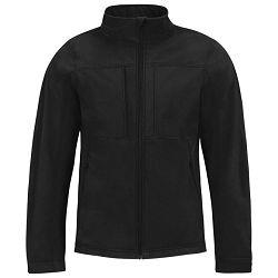 Jakna zip muška B&C Hooded Softshell crna 3XL