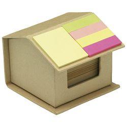 Blok samoljepljiv oblik kućice +reciklirani papir + 4 zastavica!!