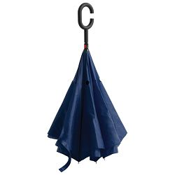 Kišobran ručni obrnuto otvaranje tamno plavi!!