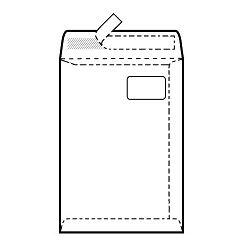 Vrećice 229x324 mm C4-BB PD strip, bijela