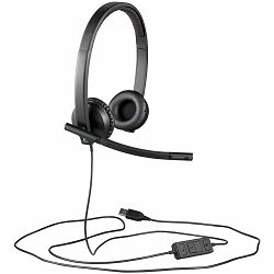 LOGITECH Corded USB Headset H570E with Leatherette Pad
