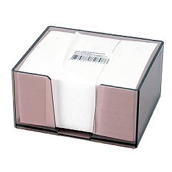 Stolna kocka s papirom 9,5x6,5x 5,7 cm, prozirna