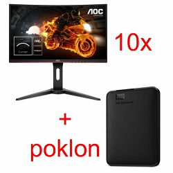 AOC C27G1 10-pack WDBU6Y0040BBK 4TB ext. USB 3.0 na poklon