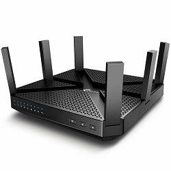 TP-Link AC4000 Tri-Band Wi-Fi Router,Broadcom 1.8GHz Qual-Core CPU,1625Mbps at 5GHz_1 + 1625Mbps at 5GHz_2+ 750Mbps  at 2.4GHz,5 Gigabit Ports,2 USB 3.0,6 antennas,RangeBoost,1024QAM,MU-MIMO,Smart Con
