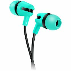 CANYON Stereo earphone with microphone, 1.2m flat cable, Green, 22*12*12mm, 0.013kg