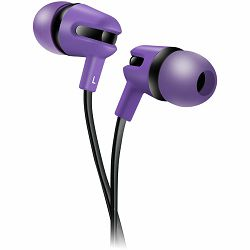 CANYON Stereo earphone with microphone, 1.2m flat cable, Purple, 22*12*12mm, 0.013kg