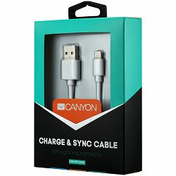 CANYON CNS-MFICAB01W Ultra-compact MFI Cable, certified by Apple, 1M length, 2.8mm , White color