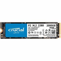 Crucial SSD Crucial P2 2000GB 3D NAND NVMe PCIe M.2 SSD, EAN: 649528902320