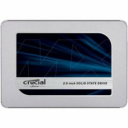 CRUCIAL MX500 250GB SSD, 2.5 7mm, SATA 6 Gb/s, Read/Write: 560/510 MB/s, Random Read/Write IOPS 95k/90k, with 9.5mm adapter
