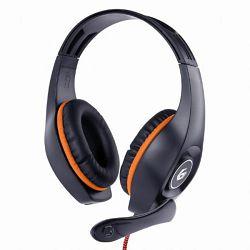 Gembird Gaming headset with volume control, orange-black, 3.5 mm