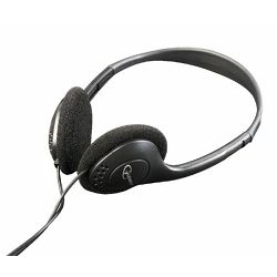 Gembird Stereo headphones with volume control, black color