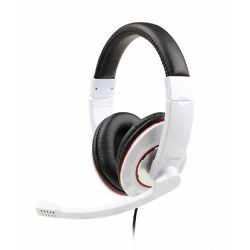 Gembird Stereo headset with rotating microphone, glossy white