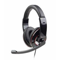 Gembird USB stereo headset, glossy black