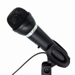 Gembird Condenser microphone with desk-stand, black