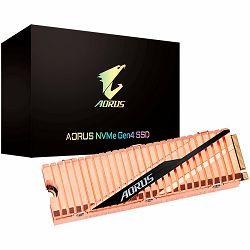 GIGABYTE SSD AORUS 500GB, M.2 2280, Gen4 NVMe 1.3 PCI-Express 4.0 x4, 3D NAND TLC, 5000MBs/2500MBs, Fully Body Copper Heat Spreader, Retail