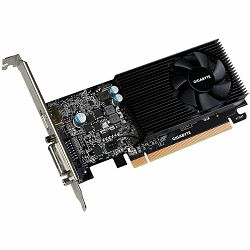 GIGABYTE Video Card NVidia GeForce GT 1030 LP GDDR5 2GB/64bit, 1227MHz/6008MHz, PCI-E 3.0 x16, HDMI, DVI-D, Cooler, 1 x HDMI+DVI low profile bracket, Retail