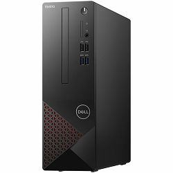 Dell Vostro Desktop 3681 w/ 200W, Intel Core i3-10100 (4-Core, 6MCache, 3.6GHz to 4.3GHz), 8GB (1x8GB) DDR4 2666MHz, 256GB M.2 PCIe NVMe, Integrated graphics, DVDRW, WiFi, BT, TPM, SD CR, NO KB, NO Mo