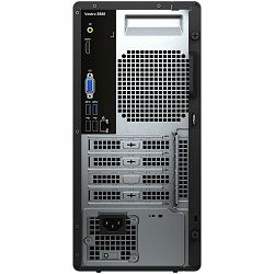 Dell Vostro Desktop 3888 w/260W, Intel Core i5-10400(6-Core, 12MCache, 2.9GHz to 4.3GHz), 8GB (1x8GB) DDR4 2666MH, 512GB M.2 PCIe NVMe, Integrated graphics, DVDRW, WiFi, BT, SD CR, NO kb, Win10Pro, 3Y