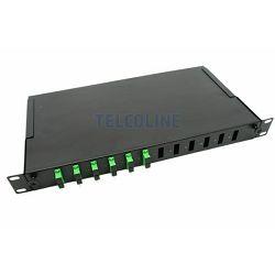 "NFO Patch Panel 1U 19"" - 12x SC Duplex, Pull-out, 1 tray, Black"