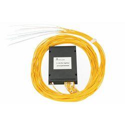 NFO Fiber Optic PLC Splitter, 1:16, ABS Module, SM, G657A1, 1,5m, No Connectors