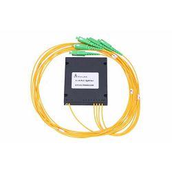 NFO Fiber Optic PLC Splitter, 1:4, ABS Module, SM, G657A1, 1,5m, SC APC