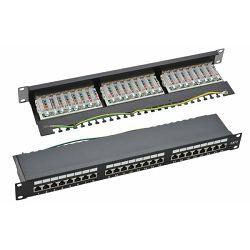 NaviaTec Cat6 Shielded 24-Port Patch Panel Black