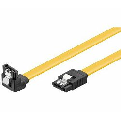 NaviaTec HDD SATA cable 1.5 3 6 Gbit s 7 pin SATA L-type plug 0,5m