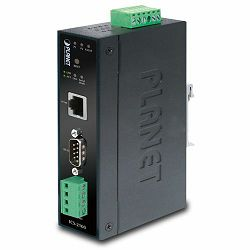 Planet Industrial RS-232 RS-422 RS-485 to100Mbps RJ45 Media Converter (-40~75C)