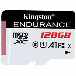 Kingston 128GB microSDHC Endurance Flash Memory Card, Class 10