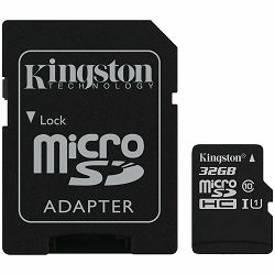 Kingston 32GB microSDHC Canvas Select Plus 100R A1 C10 Card + ADP EAN: 740617298680